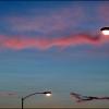 Dusk with street lights